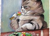 кормим кота