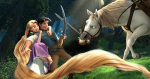 """TANGLED"" (L-R) Rapunzel, Flynn, Maximus ©Disney Enterprises, Inc. All Rights Reserved."