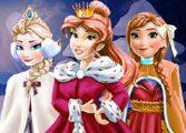 Одевалки принцесс Рождество