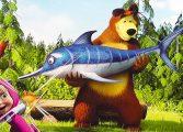 Маша и Медведь рыбалка