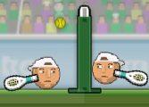 Теннис головами на двоих